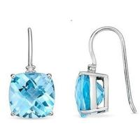 Wholesale Blue Topaz & Diamond earring from china suppliers