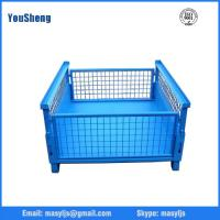 Buy cheap Industrial large metal storage stackable wire mesh containers from wholesalers