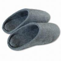 Wholesale Women's Indoor Felt Slippers, Made of 1,200gsm 100% Polyester from china suppliers