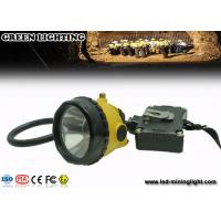 Buy cheap 6.8Ah Rechargeable Li - Ion Battery Miners Helmet Lamp With 15000Lux Brightness from wholesalers