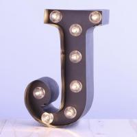 Wholesale Metal Alphabet LED Carnival Letter Lights Circus Style Light Up Sign 12'' & 9'' from china suppliers