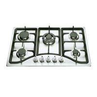 Wholesale 110V-220V Pulse Ignition 5 Burner Gas Hob Cast Iron Pan Support from china suppliers