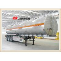 Wholesale 3 Axle Stainless Steel Tanker Trailers , 42 Cbm Fuel Tanker Semi Trailer from china suppliers