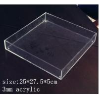 Wholesale Rectangle Clear Acrylic Tray 3mm acrylic service tray from china suppliers