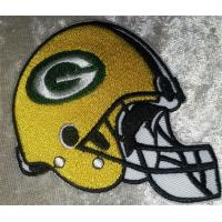 Wholesale NFL Green Bay Packers Helmet embroidered Iron on Patch High Quality for Shirt from china suppliers