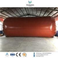 Wholesale Biogas plant Anaerobic fermentation tank biogas digester with double membrane gas holder gas storage bag from china suppliers