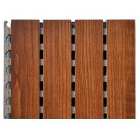 Wholesale Eco Friendly Wooden Grooved Acoustic Panel , Acoustic Isolation Panels from china suppliers