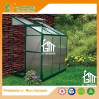 Wholesale 6'x4'x6.7'FT Green Color Single Door Wall Lean-To Series Garden Greenhouse from china suppliers