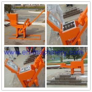 Quality Block Making Machine Manual Hand Soil Pressing Interlocking Clay 2-40 Machine for sale