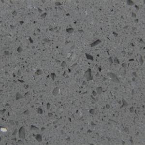 Quality Dark Grey Quartz Countertops With Sparkle Specks , Liminate Kitchen Quartz Worktops for sale