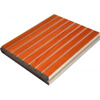 Wholesale Custom Acoustic Wood Wall Panels , Noise Reduction Grooved MDF Panels from china suppliers