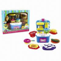 Wholesale 17 Pieces Plastic Musical Kitchen Toy Set, Sized 41 x 19 x 33cm from china suppliers
