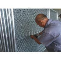 Wholesale HDG Easy chain link fence panels 8ft x 12ft spacing 2inch x 2inch x 12ga wire tubing 1.5 inch with 16 ga thickness from china suppliers