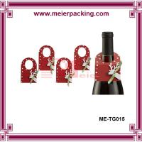 Wholesale wholesale cheap beautiful bottle neck hang tag/ paper hangtag for wine bottle ME-TG015 from china suppliers