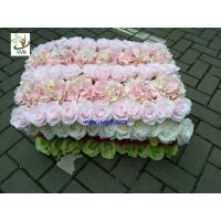 Wholesale UVG fashionable silk artificial flower mat carpet in roses and hydrangeas for wedding backdrop wall decoration CHR1136 from china suppliers