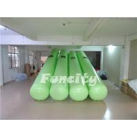 Quality 7M Length 0.5m diameter Green Color  Airtight  Floating Water Buoys for Aqua park  Enclosure for sale
