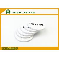 Wholesale Poker Game Custom Dealer Button White PP Material Printing Smooth from china suppliers