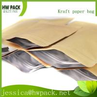 Wholesale stand up kraft aluminum foil zipper bag from china suppliers