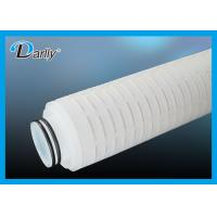 "Wholesale 10"" N6 Pleated 0.22 Micron Filter Cartridge for Pharmaceutics , High Strength from china suppliers"