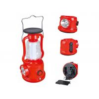 Wholesale 2 In 1 Perfect Red Camping Led Lantern Rechargeable With Lead - Acid Battery from china suppliers