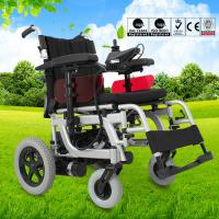 Wholesale Lightweight Electric Folding Wheelchair Spray Steel Material DLY-6012 from china suppliers