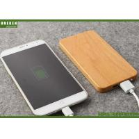 Wholesale 8000mAh Portable Mobile Power Bank Dual Port Bamboo Solid With Polymer Battery Battery from china suppliers