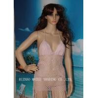 Wholesale Pear Shape Crochet Monokini Swimwear With Tassels / Women Hollow Crochet Bathing Suit from china suppliers