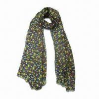 Buy cheap Ladies Printed Light Scarf, Made of 100% Acrylic, Customized Designs are from wholesalers
