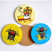 Wholesale Hot Wholesale Round Shape cork coaster Customized size and printed logo for home and hotel from china suppliers