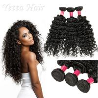 Wholesale 6A Peruvian Virgin Curly Hair Extensions / Soft 100% Human Hair Wefts from china suppliers