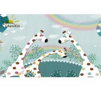 Quality Nursery Decor Fabric Wall Covering Formaldehydeless Unique 4 Layer Structure for sale