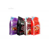 China Resealable Flat Bottom Zipper Cat Food Pouches , Dog Food Pouches Custom Printed on sale