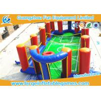 Wholesale Airtight Inflatable Football Playground Soap Soccer Field Court Shape For Beach Game from china suppliers