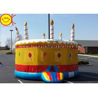 Wholesale 0.55mm PVC Birthday Cake Inflatable Bounce House Jumper Combo Bouncer For Kids Play from china suppliers