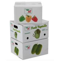 Wholesale Eco - Friendly Vegetables Packing Boxes , Plain Cardboard Boxes For Food Packaging from china suppliers
