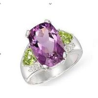 Wholesale Amethyst peridot diamond ring from china suppliers