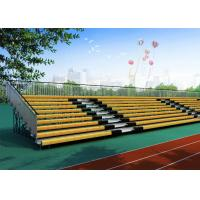 Wholesale Galvanized Steel Yellow Bleacher Stadium Seats Extra Wide 764mm High Safety from china suppliers
