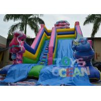 Wholesale Plato PVC Vinyl Kids Indoor Trolls Inflatable Slides Inflatable Toboggan Gonfiabile Scivolo from china suppliers