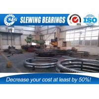 Wholesale Single Row Slewing Ring Bearing , Four Point Contact Excavator Swing Bearing Without Gear from china suppliers