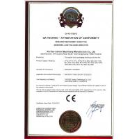 HeBei Xin-Tian Carton Machinery manufacturing co.,ltd Certifications