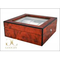 Wholesale 6 Audemars Piguet Wooden Watch Box With Glass Top Velvet Inner material , 240 X 250 X 125 Mm from china suppliers
