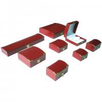 Wholesale Red Small Empty Gift Leather Jewelry Box For Necklace And Earrings from china suppliers