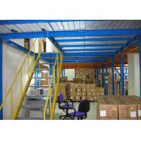 Wholesale Steel Q235 Industrial Storage Mezzanine Floors With Steel Plate 500kg/M² from china suppliers