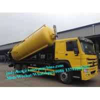 Wholesale sinotruk Howo 16M3 Sewage Suction Truck/Vacuum truck, 6X4 EURO II Option 290HP/ 336HP, left and right hand drive from china suppliers