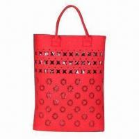 Wholesale Nice Shopping Bag, Made of Felt, Customized Designs, Sizes and Colors are Accepted from china suppliers