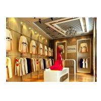 Wholesale High Grade Garment Shop Fittings Floor Standing Clothing Hanging With Display Cabinet from china suppliers