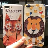 Wholesale IPhone Stylish Cell phones Covers Cases With 3D Relief Cute Cartoon Pattern from china suppliers