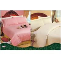 Wholesale Full Size 100 % Cotton Solid Color Hotel Bedding Sets with 3 cm Satin Strip from china suppliers