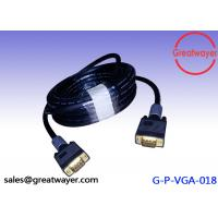 Quality Gold Plated Video Graphics Array HD15pin 3+6  AWM Wiring Diagram , Vga Connector Cable for sale