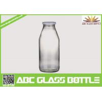 Wholesale Decored beverage juice water milk 1liter glass bottle with hermetic lid from china suppliers